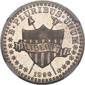 1896 J-1767 1C PF obverse