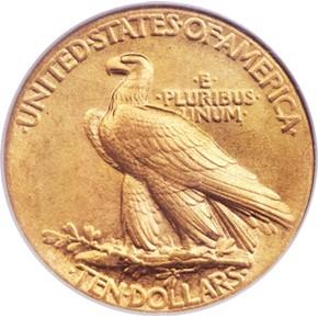 1907 J-1902 $10 PF reverse