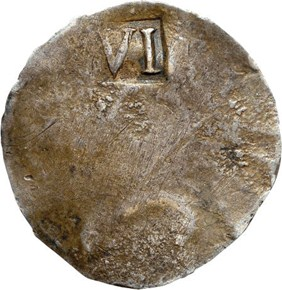 (1652) 'NE' MASSACHUSETTS 6P MS reverse
