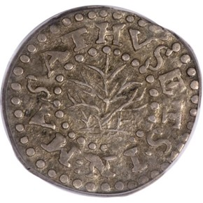 1662 LARGE 2 OAK TREE MASSACHUSETTS 2P MS obverse