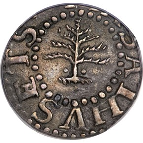 1652 NO PELS PINE TREE MASSACHUSETTS 3P MS obverse