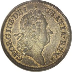 1723 ROSA AMERICANA 1P MS obverse