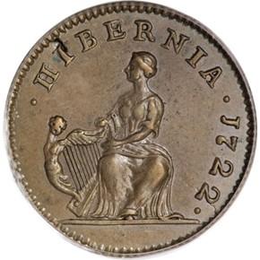 1722 HIBERNIA 1/4P MS reverse