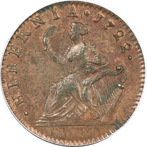1722 HARP RIGHT HIBERNIA 1/2P MS reverse