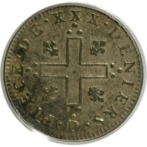 1711D FRENCH COLONIES 30D MS obverse
