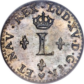 1740BB FRENCH COLONIES 1/2SM MS obverse