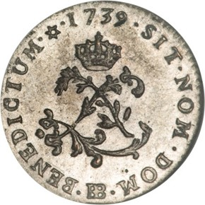 1739BB FRENCH COLONIES 1SM MS obverse