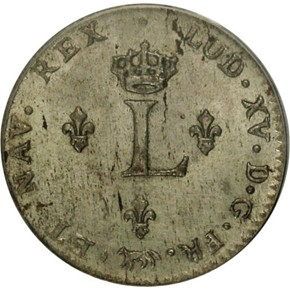 1740T FRENCH COLONIES 1SM MS reverse