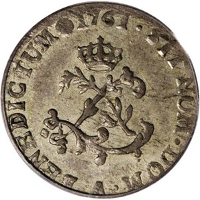 1761A FRENCH COLONIES 1SM MS obverse