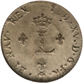 1764A FRENCH COLONIES 1SM MS obverse