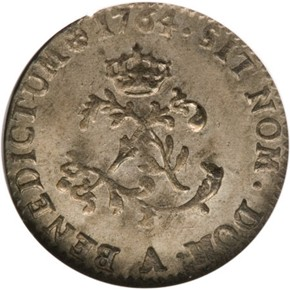 1764A FRENCH COLONIES 1SM MS reverse