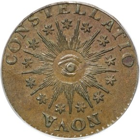 1785 LG DATE POINT RAYS NOVA CONSTELLATIO MS obverse