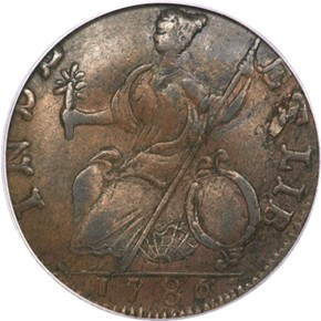 1786 'HERCULES' CONNECTICUT MS reverse