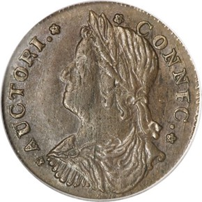 1787 'CONNFC' CONNECTICUT MS obverse