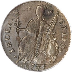 1787 'CONNFC' CONNECTICUT MS reverse
