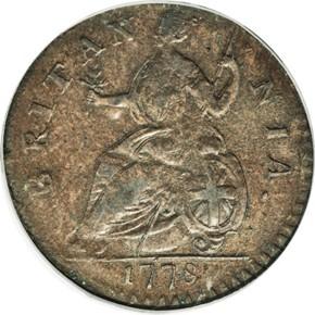 1778 'GEORGIVS' MACHIN'S MILLS 1/2P MS reverse