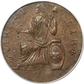 1787 FIGURE LEFT NOVA EBORAC MS reverse