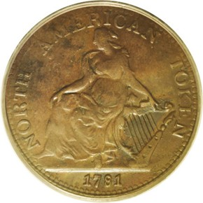 1781 NORTH AMERICAN TOKEN MS obverse