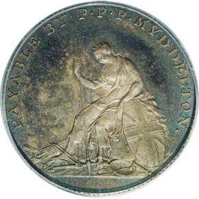1796 SILVER MYDDELTON TOKEN PF obverse