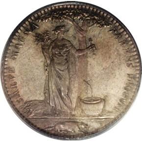 1796 SILVER ORIGINAL CASTORLAND MEDAL MS reverse
