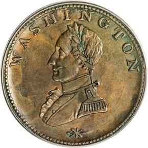 (UNDATED) WASHINGTON DOUBLE HEAD MILITARY BUST 1C MS obverse