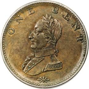 (UNDATED) WASHINGTON DOUBLE HEAD MILITARY BUST 1C MS reverse