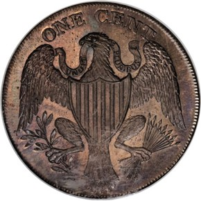 1791 LARGE EAGLE WASHINGTON PRESIDENT 1C MS reverse