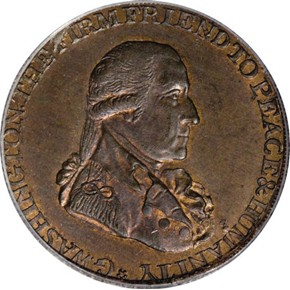 1795 R.E. LG BUTTONS WASHINGTON - GRATE 1/2P MS obverse