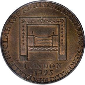 1795 R.E. LG BUTTONS WASHINGTON - GRATE 1/2P MS reverse