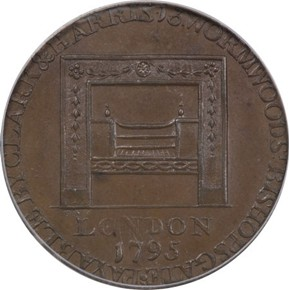 1795 R.E. SM BUTTONS WASHINGTON - GRATE 1/2P MS reverse