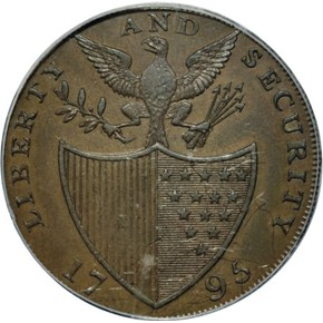 1795 L.E. 'ASYLUM' LIBERTY & SECURITY 1/2P MS reverse