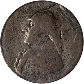 (1795) TWO STARS WASHINGTON - NORTH WALES 1/2P MS obverse