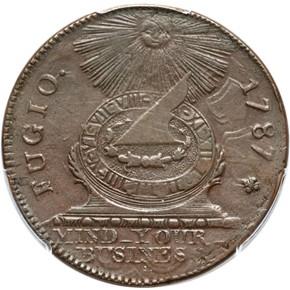 1787 + P.R. FUGIO 'UNITED STATES' 1C MS obverse
