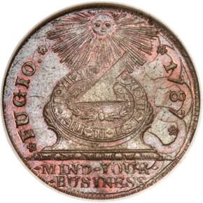 1787 4 CINQ P.R. FUGIO 'UNITED STATES' 1C MS obverse
