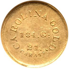 (1842-50) A.BECHTLER 134G, 21C $5 MS obverse