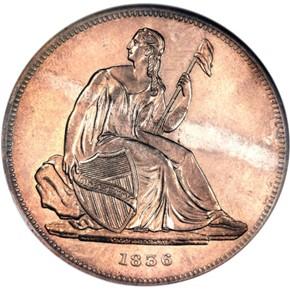 1836 SILVER J-65 GOBRECHT S$1 PF obverse