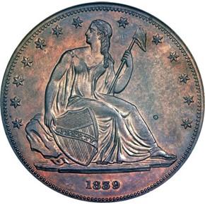1839 COPPER J-107 GOBRECHT S$1 PF obverse