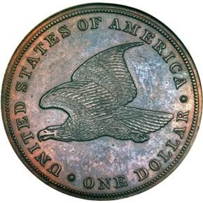 1839 COPPER J-107 GOBRECHT S$1 PF reverse