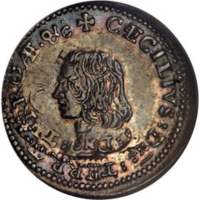 c.1659 LORD BALTIMORE MARYLAND 4P MS obverse