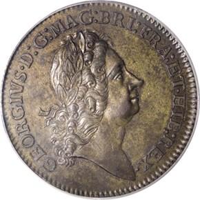 c.1722 WITH RIBBON ROSA AMERICANA 2P MS obverse