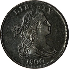 1800/798 1ST HAIR 1C MS obverse