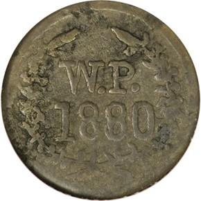 1880 HAWAII WAILUKU PLANTATION 1/2R MS obverse