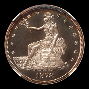 1878 T$1 PF obverse