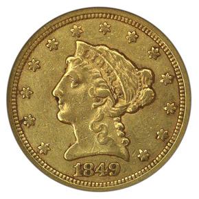 1849 C $2.5 MS obverse