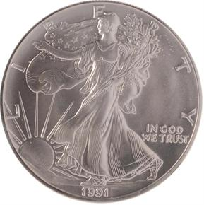 1991 EAGLE S$1 MS obverse