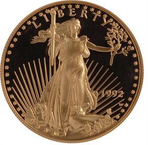 1992 W EAGLE G$50 PF obverse