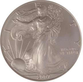2007 W EAGLE S$1 MS obverse
