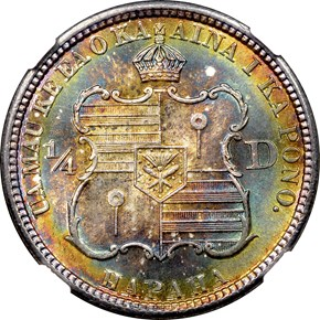 1883 HAWAII 25C MS reverse