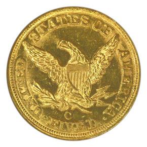 1850 C $5 MS reverse