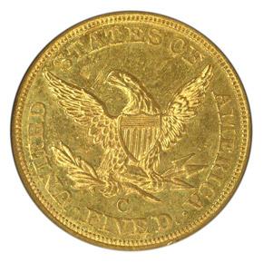 1853 C $5 MS reverse